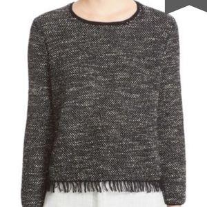 Theory Vendhla Tweed Fringe Sweater Size S